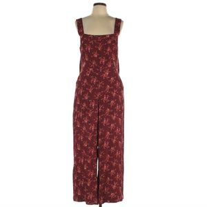 Madewell Floral Jumpsuit Tie Back Size 12